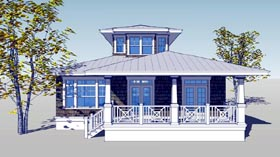 House Plan 67565 with 3 Beds, 3 Baths Elevation