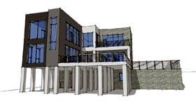 Contemporary Modern House Plan 67577 Elevation