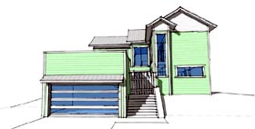 Coastal Modern House Plan 67578 Elevation
