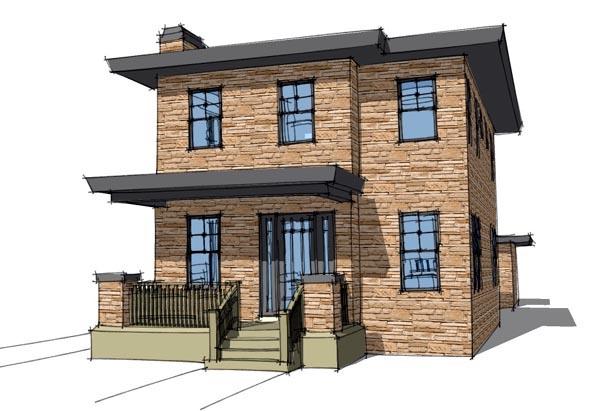 Modern House Plan 67581 Elevation