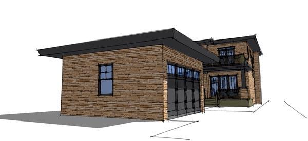 Modern House Plan 67581 Rear Elevation
