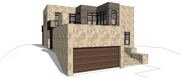 House Plan 67591 | Modern Style Plan with 2271 Sq Ft, 3 Bedrooms, 3 Bathrooms, 2 Car Garage Elevation