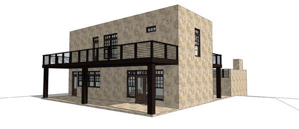 Modern House Plan 67591 Rear Elevation