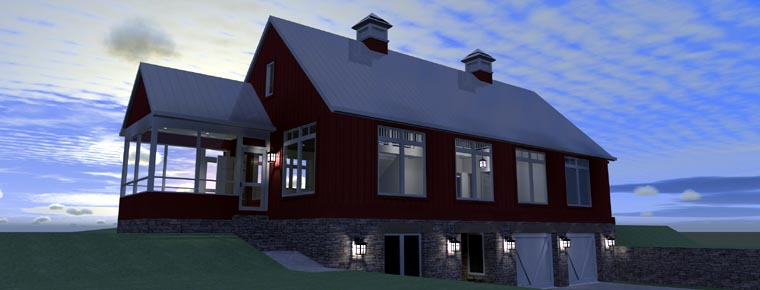 House Plan 67592 | Contemporary Style Plan with 2216 Sq Ft, 3 Bedrooms, 2 Bathrooms, 2 Car Garage