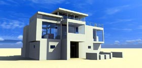 Modern , Contemporary House Plan 67595 with 3 Beds, 3 Baths Elevation