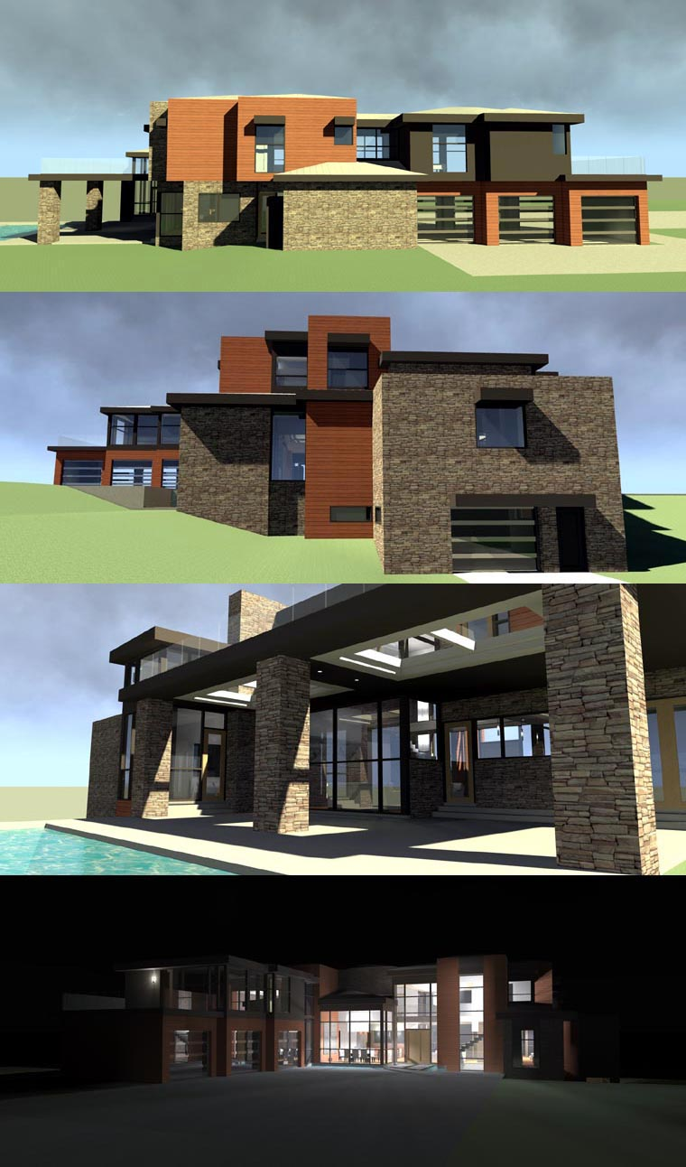 Contemporary, Modern House Plan 67596 with 5 Beds, 6 Baths, 3 Car Garage Picture 4