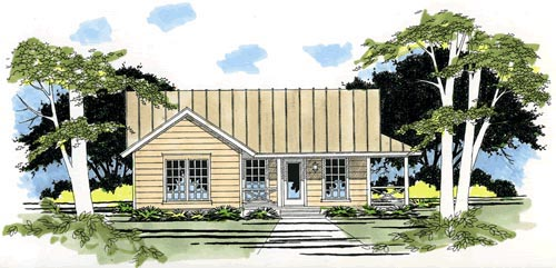 One-Story, Ranch House Plan 67602 with 3 Beds, 2 Baths, 2 Car Garage Elevation