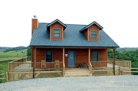 House Plan 67604 | Cape Cod Style Plan with 1157 Sq Ft, 3 Bedrooms, 2 Bathrooms Elevation