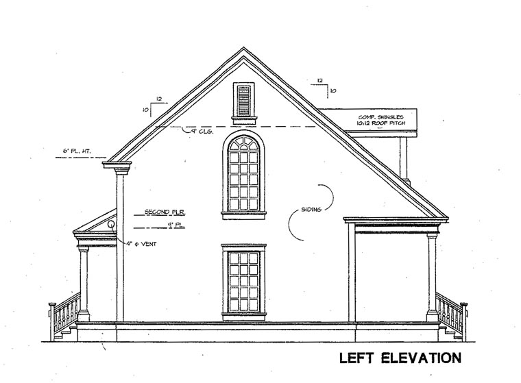 Cape Cod House Plan 67606 with 2 Beds, 3 Baths Picture 1