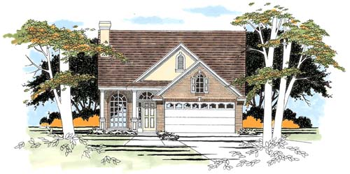 Traditional House Plan 67610 with 3 Beds, 3 Baths, 2 Car Garage Elevation