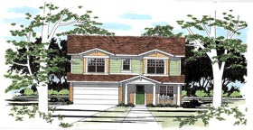 Traditional House Plan 67612 with 3 Beds, 3 Baths, 2 Car Garage Elevation