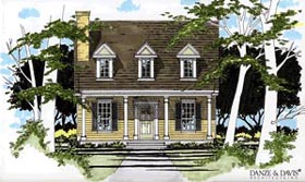 Cape Cod House Plan 67618 with 3 Beds, 2 Baths Elevation