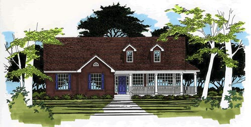 One-Story Traditional Elevation of Plan 67679