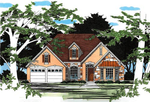 One-Story, Traditional House Plan 67681 with 4 Beds, 2 Baths, 2 Car Garage Elevation