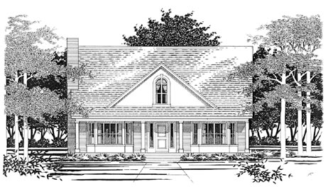 Traditional House Plan 67684 with 3 Beds, 3 Baths, 2 Car Garage Elevation