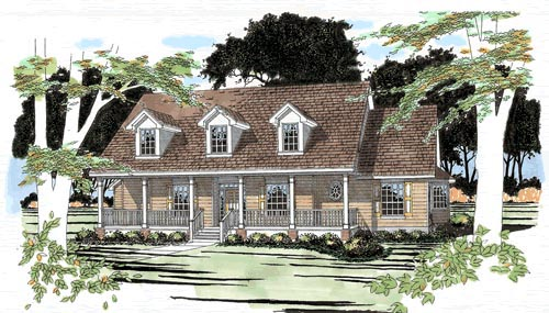 Traditional House Plan 67687 with 3 Beds, 3 Baths, 2 Car Garage Elevation