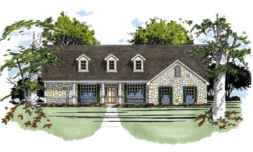 One-Story , Traditional , Elevation of Plan 67690