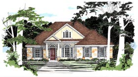 Traditional House Plan 67692 Elevation