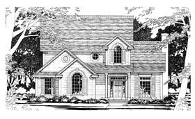 European House Plan 67695 with 3 Beds, 3 Baths, 2 Car Garage Elevation