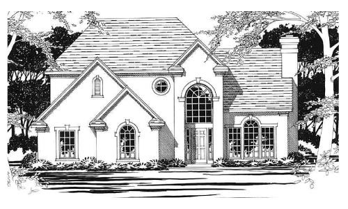 Traditional House Plan 67696 with 3 Beds, 3 Baths, 2 Car Garage Elevation