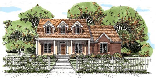 Cape Cod House Plan 67698 Elevation
