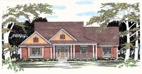 Traditional House Plan 67701 with 3 Beds, 2 Baths, 2 Car Garage Elevation