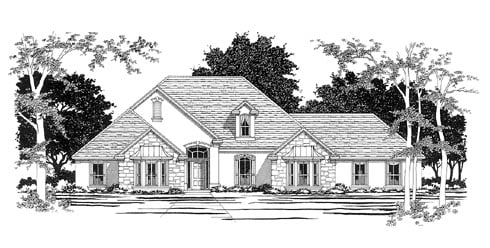 Traditional House Plan 67710 Elevation