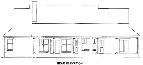 Traditional House Plan 67721 Rear Elevation
