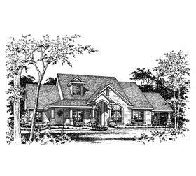 House Plan 67722 | European Style Plan with 2359 Sq Ft, 3 Bedrooms, 3 Bathrooms Elevation