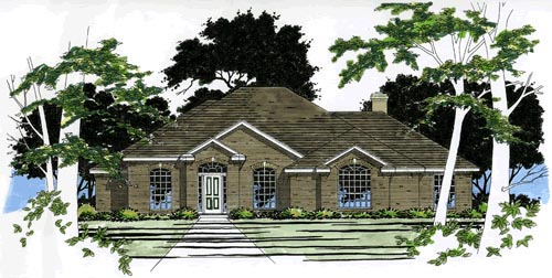 House Plan 67723 Elevation
