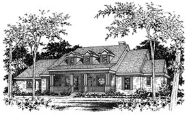 Traditional House Plan 67724 Elevation