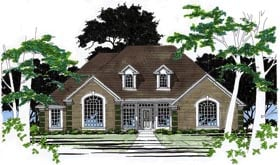 House Plan 67725 | Traditional Style Plan with 2376 Sq Ft, 3 Bedrooms, 3 Bathrooms, 2 Car Garage Elevation