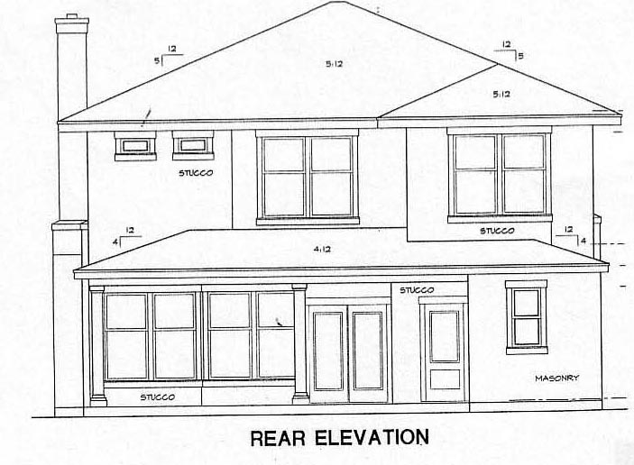Bungalow House Plan 67731 Rear Elevation