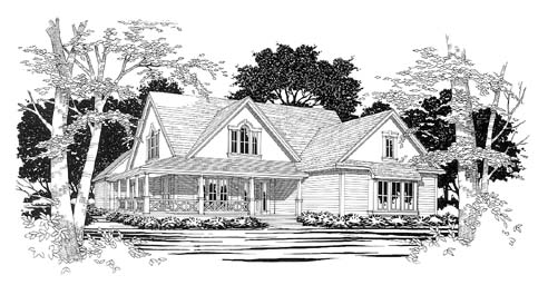 Traditional House Plan 67741 Elevation