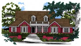 House Plan 67742 | Traditional Style Plan with 2550 Sq Ft, 3 Bedrooms, 2 Bathrooms, 2 Car Garage Elevation