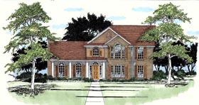 European House Plan 67745 Elevation