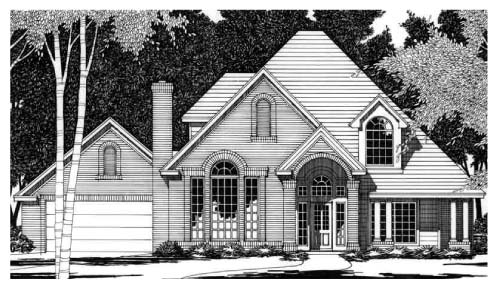 European House Plan 67746 Elevation
