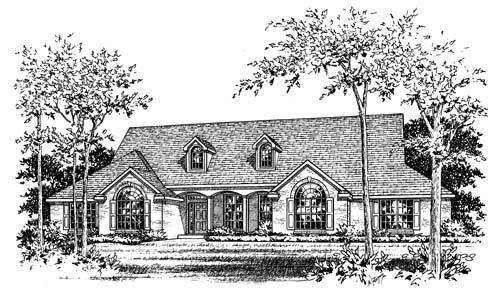 European House Plan 67756 Elevation
