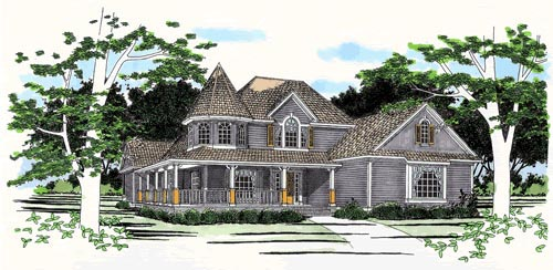Victorian House Plan 67761 Elevation