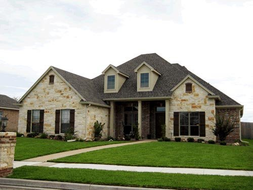 Traditional House Plan 67763 with 3 Beds, 3 Baths, 2 Car Garage Elevation