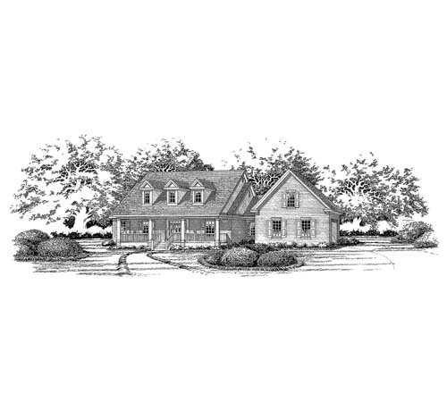 Country House Plan 67767 Elevation