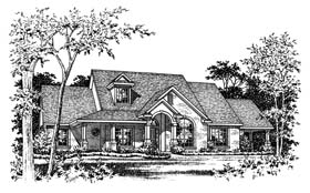 Traditional House Plan 67774 with 3 Beds, 3 Baths Elevation