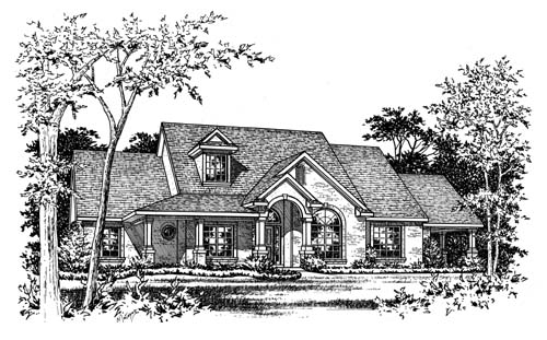 Traditional House Plan 67774 Elevation