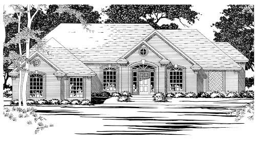 Traditional House Plan 67777 Elevation