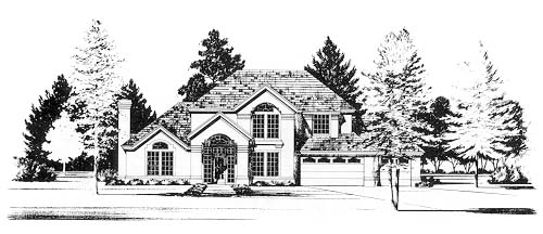 European House Plan 67778 Elevation