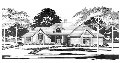 Traditional House Plan 67786 Elevation