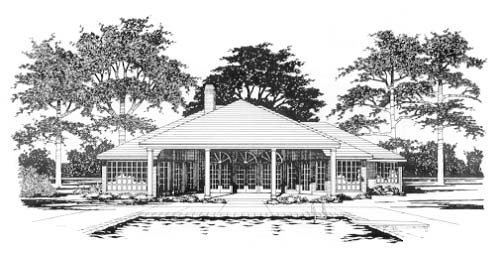 Traditional House Plan 67786 Rear Elevation