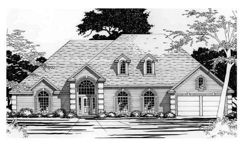 European House Plan 67787 Elevation