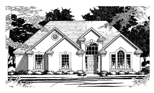Traditional House Plan 67789 Elevation