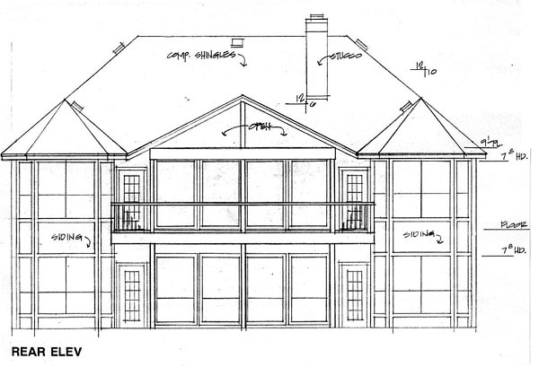 Traditional House Plan 67789 Rear Elevation